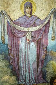 Мозаика из Храма Покрова Пресвятой Богородицы