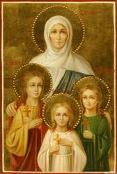 Икона святых великомучениц Веры, Надежды, Любови и матери их Софии
