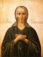 Икона святой преподобной Марии Египетской