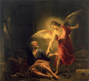 Бартоломе Эстебан Мурильо (1617 – 1682). Освобождение апостола Петра из темницы.